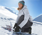 Női sí- és snowboard dzseki, világosszürke