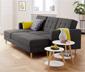 Canapé-lit d'angle à ressorts avec banc de rangement