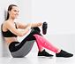 DryActive Plus Spor Tayt, Kırçıllı Gri-Pembe ve Beyaz