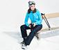Kayak Pantolonu, Mavi-Siyah Desenli