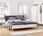 Lit avec tête de lit rembourrée, env. 180 x 200 cm