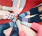 Pembe Beyaz Su Yeşili Desenli 5 Çift Organik Pamuklu Çorap