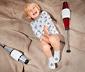 Gri Çok Renkli 5 Çift Organik Pamuklu Bebek Çorabı