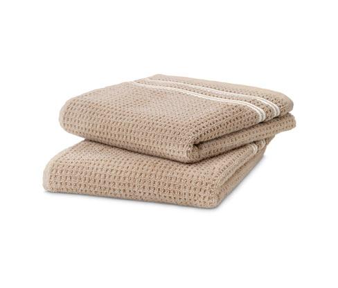 Vestio-Handtuch mit Waffelmuster, 2er-Set, beige