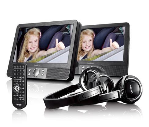 Lenco portabler DVD-Player »MES-415« (inkl. 2x Kopfhörer, 2x Kopfstützenbefestigung)