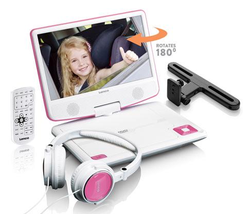 Lenco portabler DVD-Player »DVP-910«, pink