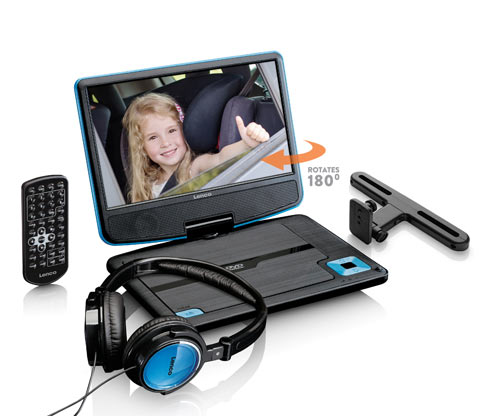 Lenco portabler DVD-Player »DVP-910«, schwarz-blau