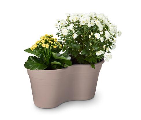 Tchibo Doppel-Blumentopf mit Balkonaufhängung - Puder