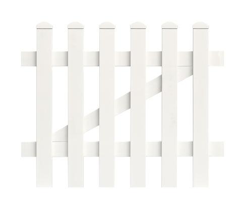 KM Meeth Zauntür zum Aufschrauben, ca. 96,2 x 80 cm, weiß