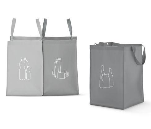 3 Recycling-Taschen