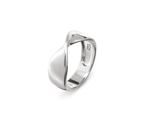 Verdrehter Ring, 925 Silber »Pure Collection«