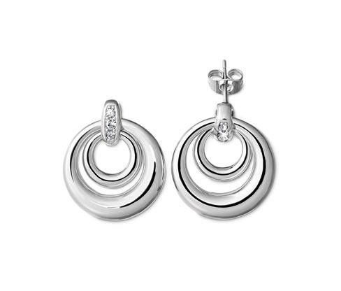 Tchibo Ohrringe veredelt mit Kristallen von Swarovski® - Silber