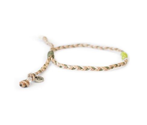 Damenarmband »We Care«, beige-grün