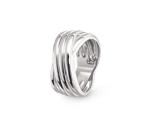 Breiter Ring, 925 Silber »Pure Collection«