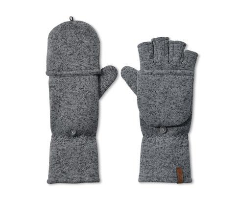 Strickfleece-Klappfäustlinge | Accessoires > Handschuhe > Fäustlinge