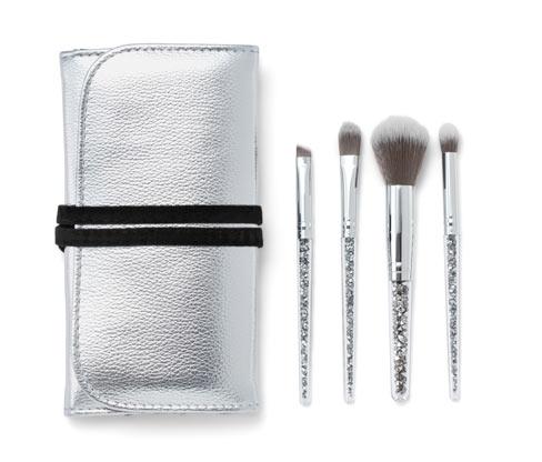 Kosmetikpinsel-Set mit Tasche