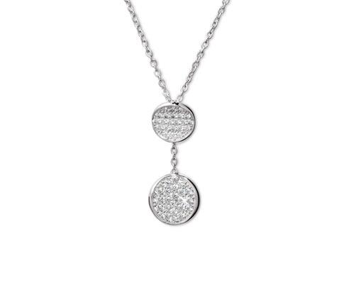 Kette, 925 Silber mit Zirkonia