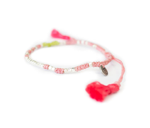 Damenarmband »We Care«, roséfarben