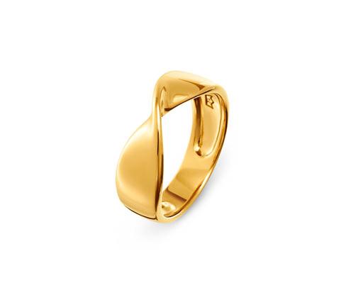 Verdrehter Ring, 925 Silber vergoldet »Pure Collection«