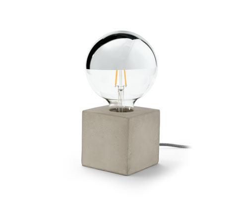 LED-Kopfspiegellampe mit Betonfuß