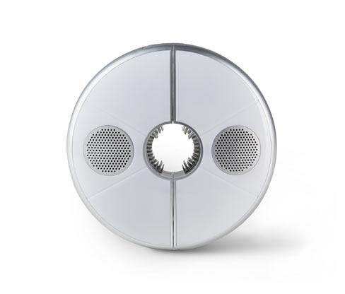 Tchibo LED-Schirmleuchte mit Bluetooth®-Lautsprecher - Silber