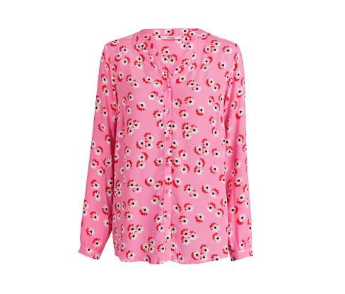 Bluse im Margeriten-Dessin, rosa