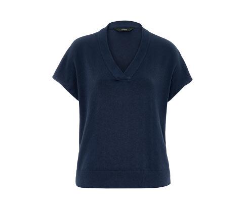 Feinstrick-Loungewear-Sweatshirt
