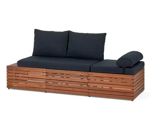 """*NEU*: Gartensofa """"2 in 1"""" aus Eukalyptusholz, braun"""