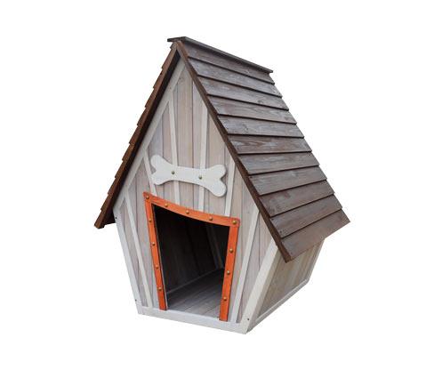 "*NEU*: Hundehütte ""Hubi"" aus Spießtannenholz, anthrazit/grau"