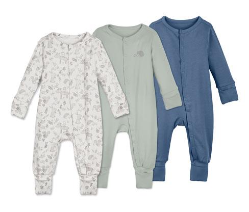 3 Baumwoll-Pyjamas