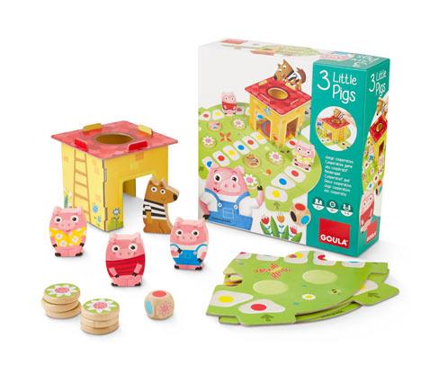 Goula Brettspiel »3 kleine Schweinchen«