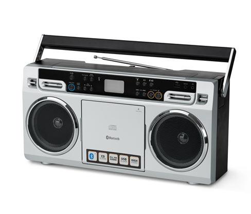 Lenco SCD-580 tragbare Boombox im 80er-Jahre-Stil