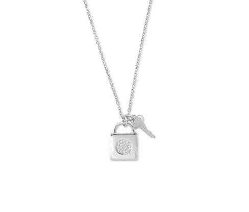 Silberkette verziert mit Zirkonia
