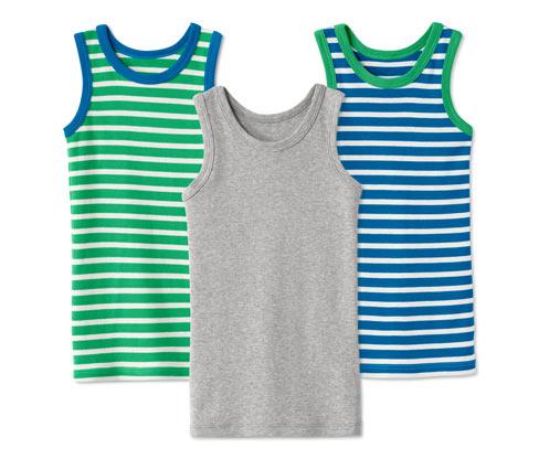 3 Feinripp-Unterhemden