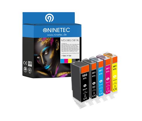 NINETEC-Tintenpatrone »NT5-580/581XXL« für Canon PIXMA-Modelle