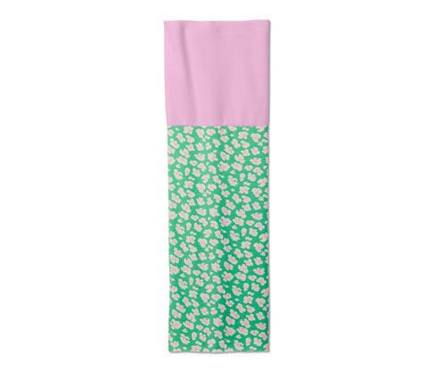Recyceltes Multifunktionstuch, rosa-grün