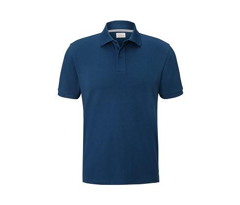 Piqué-Poloshirt | Bekleidung > Polo Shirts > Kurzarm | Blau | Baumwolle