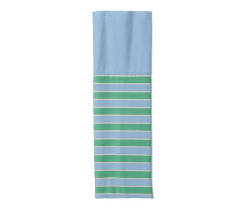 Recyceltes Multifunktionstuch, blau-grün