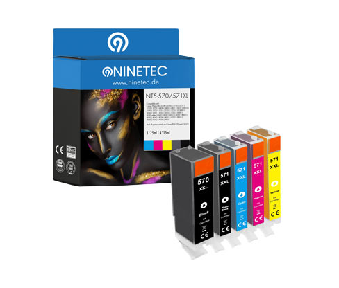 NINETEC-Tintenpatrone »NT5-570/571XL« für Canon Pixma Modelle