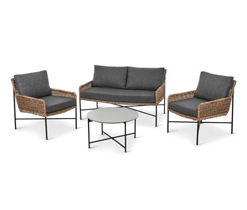 Gartensofa-Set in Bambusoptik