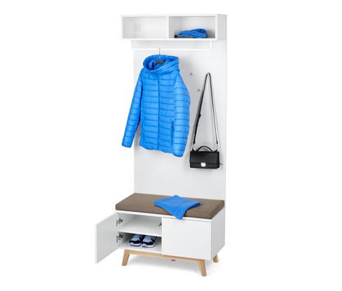 Garderobe mit Sitzbank