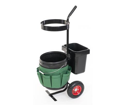 *NEU*: Garten-Trolley aus Stahl und Polyester, schwarz/grün