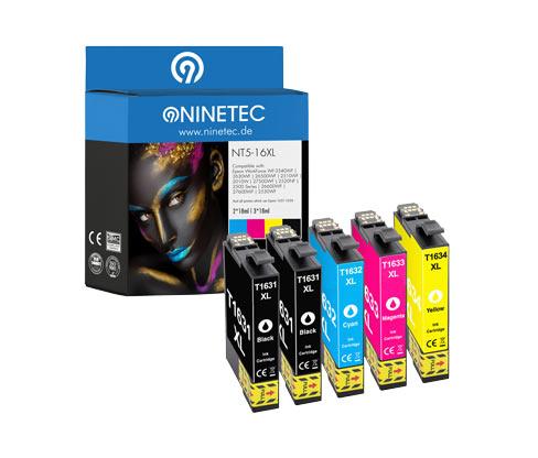 NINETEC-Tintenpatrone »NT5-16XL« für Epson WorkForce-Modelle
