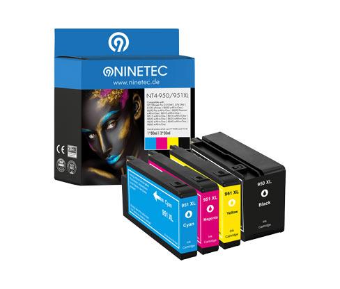NINETEC-Tintenpatrone »NT4-950/951XL« für HP OfficeJet-Modelle