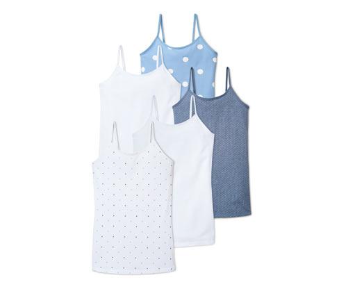 5 Mädchen-Unterhemden