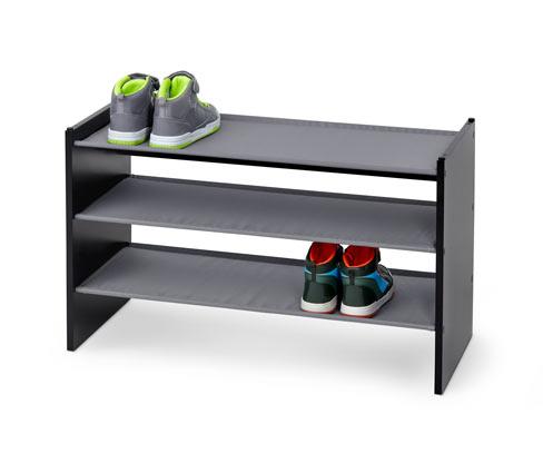 Schuhregal, schwarz