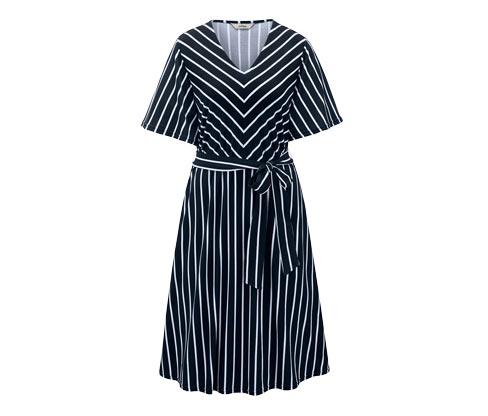 Midi-Kleid mit Bindeband