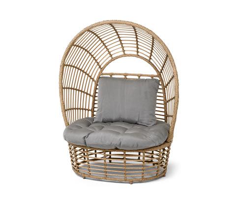 "*NEU*: Relax-Sessel ""Boho"" aus Polyrattan, beige/grau"