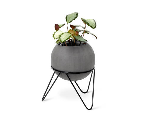 *NEU*: Pflanzkübel mit Gestell, aus Terrakotta-Mix, grau
