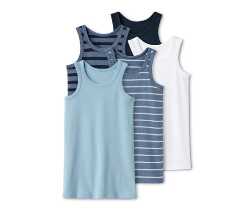 5 Jungen-Unterhemden